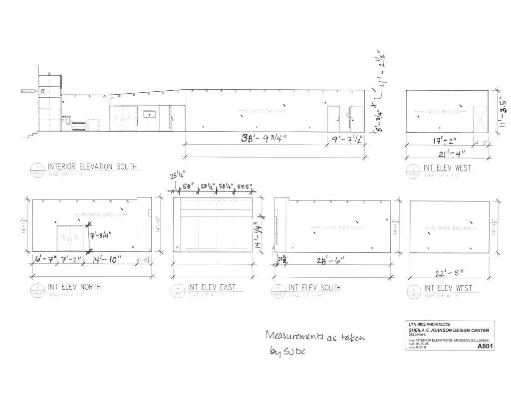 Aronson plan + elev as built 2